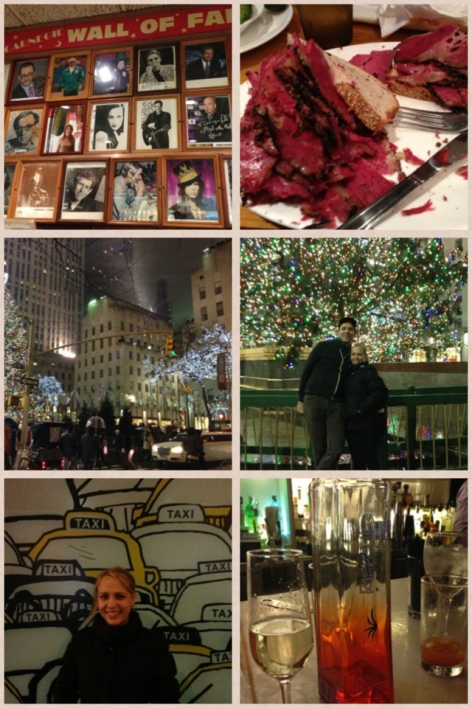 Carnegie Deli, Rockefeller Center, Taxis, and Tequila