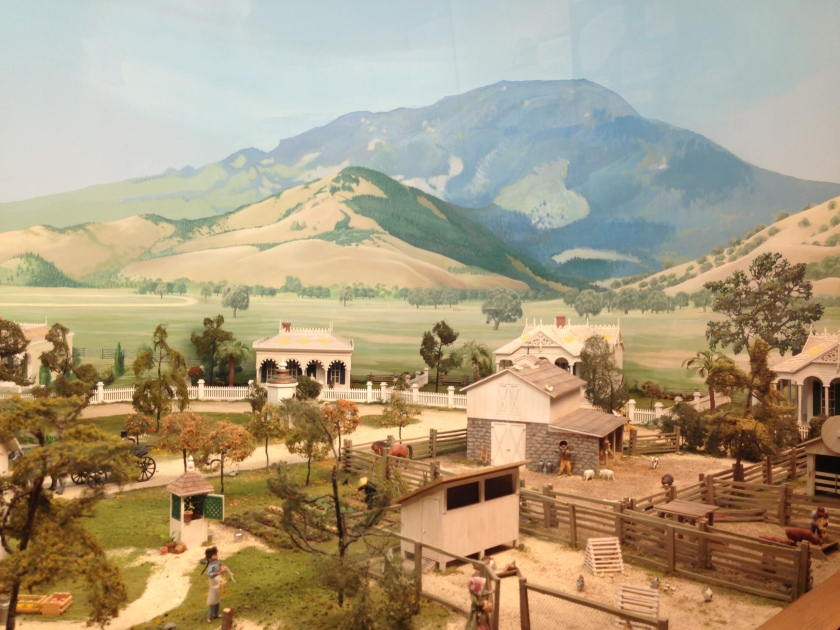 A diorama of Calistoga's heyday, from the Sharpsteen Museum of Calistoga History