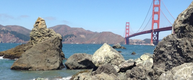 A look at the bridge from Marshall's Beach