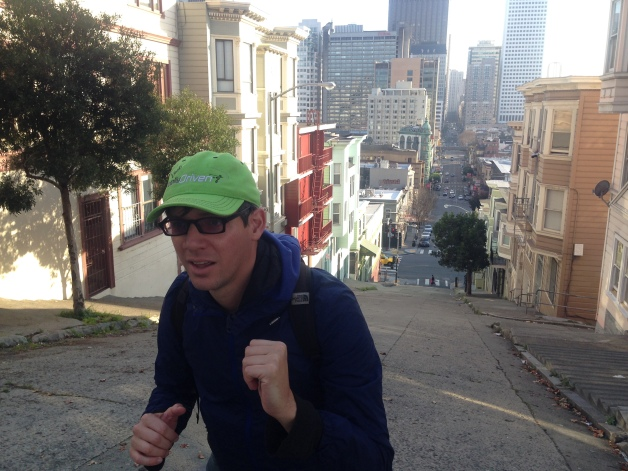 Running the Macchiarini stairs to Coit Tower.
