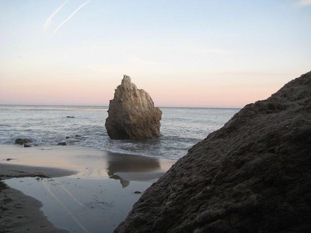 El Matador Beach in Malibu - Beautiful beach with sea caves and large rocks on the beach.