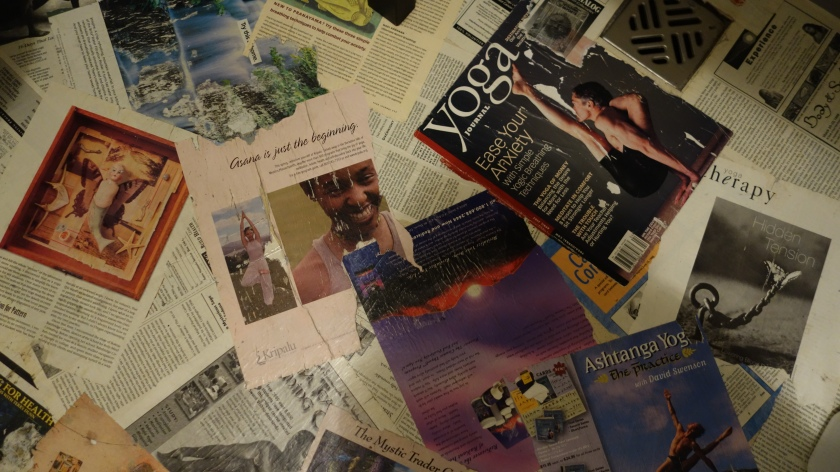 Love for Yoga Journal on the bathroom floor...