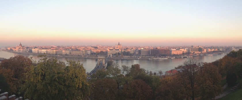 Breathtaking view from Castle Hill in Buda