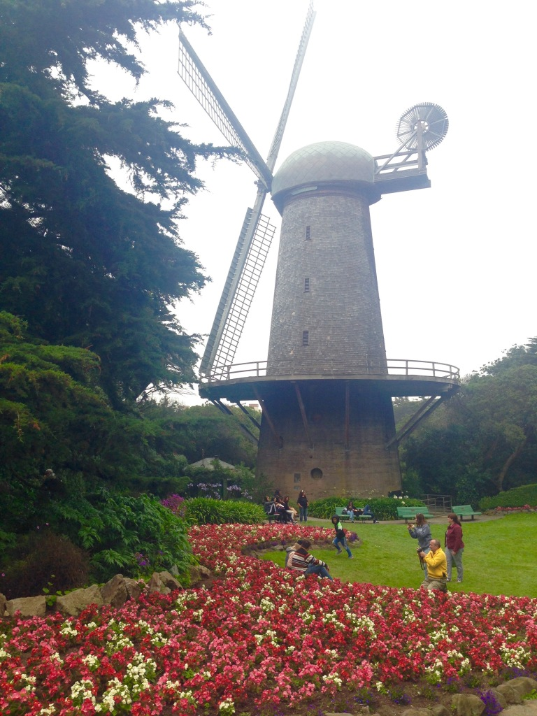 The Dutch Windmill was built in 1902, before its much-bigger sister, and is now the whimsical focal point of the bright and beautiful Queen Wilhelmina Tulip Garden, intricately speckled with thousands of vibrantly colored bulbs.