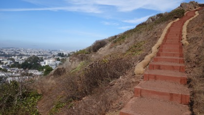The stairs of Tank Hill.