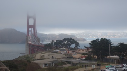 Marine layer vs. the Golden Gate Bridge