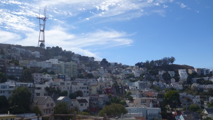 View from Kite Hill. San Francisco looks like it could be in Cinque Terre in Italy!