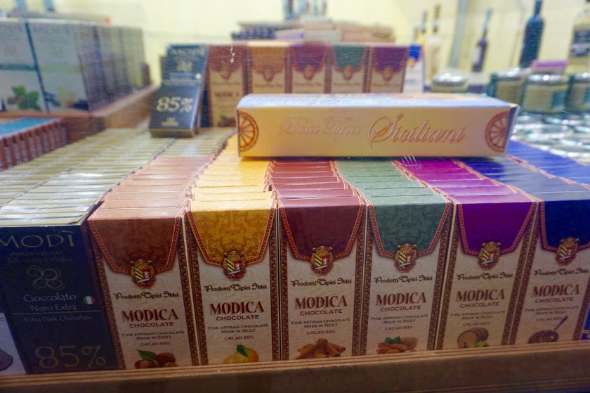 Cioccolato di Modica: Specialty chocolate from Sicily with an especially grainy texture that allows the cacao to bounce off every individual tastebud. Small highly recommends the 85% variety.